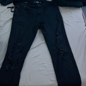 Black Stacked Skinny Jeans